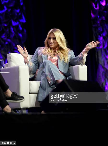Kesha speaks onstage at 'Refinery29's Amy Emmerich and Kesha Discuss Reclaiming the Internet' during 2017 SXSW Conference and Festivals at Austin...