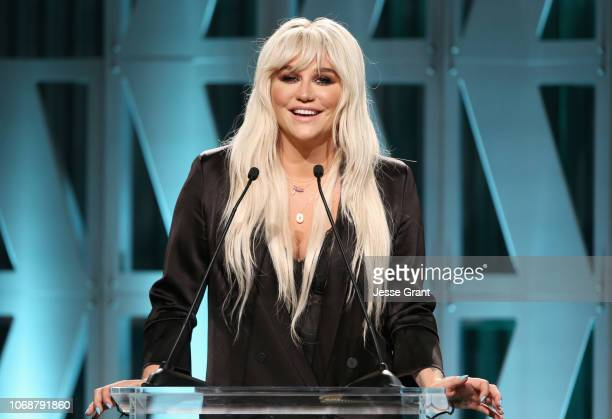 Kesha speaks onstage during The Hollywood Reporter's Power 100 Women In Entertainment at Milk Studios on December 5 2018 in Los Angeles California