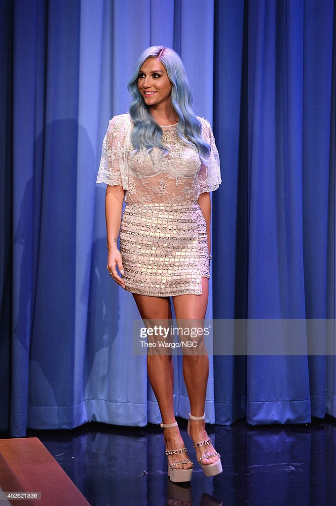 Kesha visits 'The Tonight Show Starring Jimmy Fallon' at Rockefeller Center on July 24, 2014 in New York City.