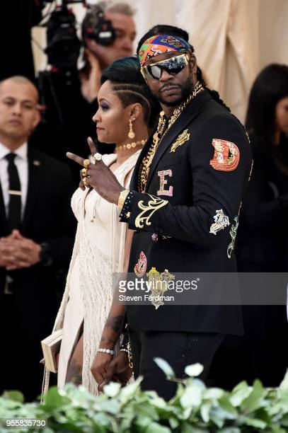 Kesha Ward and 2 Chainz attend Heavenly Bodies Fashion The Catholic Imagination Costume Institute Gala at Metropolitan Museum of Art on May 7 2018 in...