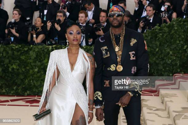 Kesha Ward and 2 Chainz attend 'Heavenly Bodies Fashion the Catholic Imagination' the 2018 Costume Institute Benefit at Metropolitan Museum of Art on...