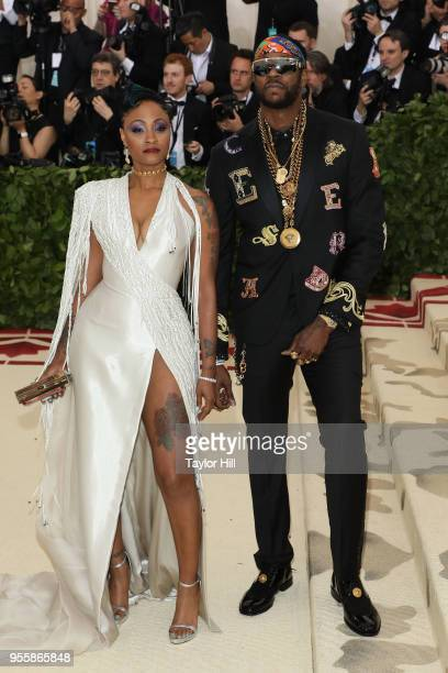 Kesha Ward and 2 Chainz attend Heavenly Bodies Fashion the Catholic Imagination the 2018 Costume Institute Benefit at Metropolitan Museum of Art on...