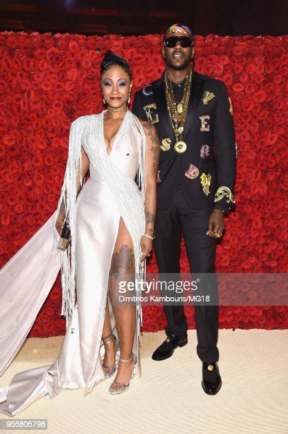 Kesha Ward and 2 Chainz attend the Heavenly Bodies Fashion The Catholic Imagination Costume Institute Gala at The Metropolitan Museum of Art on May 7...