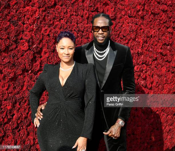 Kesha Ward and 2 Chainz attend Tyler Perry Studios grand opening gala at Tyler Perry Studios on October 05 2019 in Atlanta Georgia