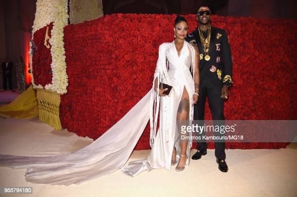 Kesha Ward and 2 Chainz attends the Heavenly Bodies Fashion The Catholic Imagination Costume Institute Gala at The Metropolitan Museum of Art on May...