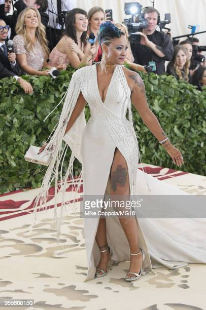 Kesha Ward attends the Heavenly Bodies Fashion The Catholic Imagination Costume Institute Gala at The Metropolitan Museum of Art on May 7 2018 in New...