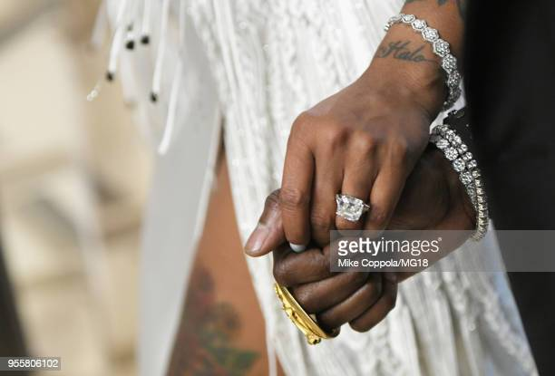 Kesha Ward fashion detail attends the Heavenly Bodies Fashion The Catholic Imagination Costume Institute Gala at The Metropolitan Museum of Art on...