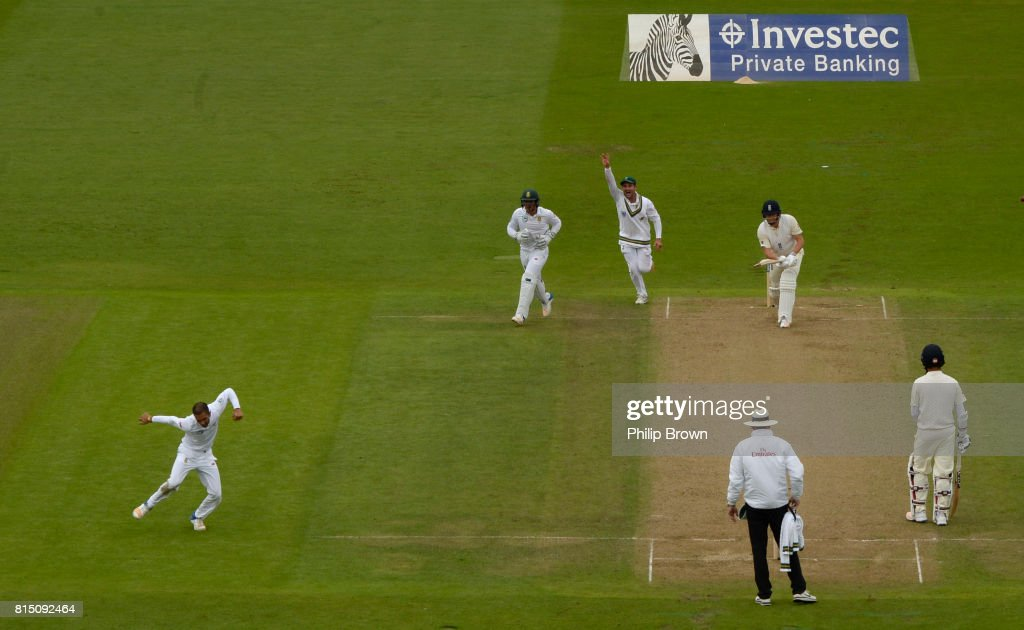 England v South Africa - 2nd Investec Test: Day Two : News Photo