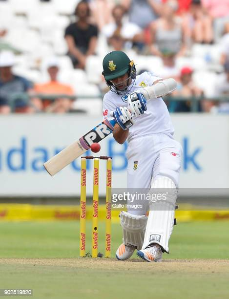 Keshav Maharaj of South Africa during day 4 of the 1st Sunfoil Test match between South Africa and India at PPC Newlands on January 08 2018 in Cape...