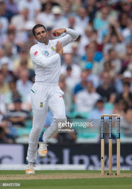 Keshav Maharaj of South Africa during day two of the 3rd Investec test between England and South Africa at The Kia Oval on July 28 2017 in London...