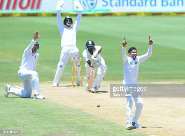 Keshav Maharaj of the Proteas during day 3 of the 2nd Sunfoil Test match between South Africa and India at SuperSport Park on January 15 2018 in...