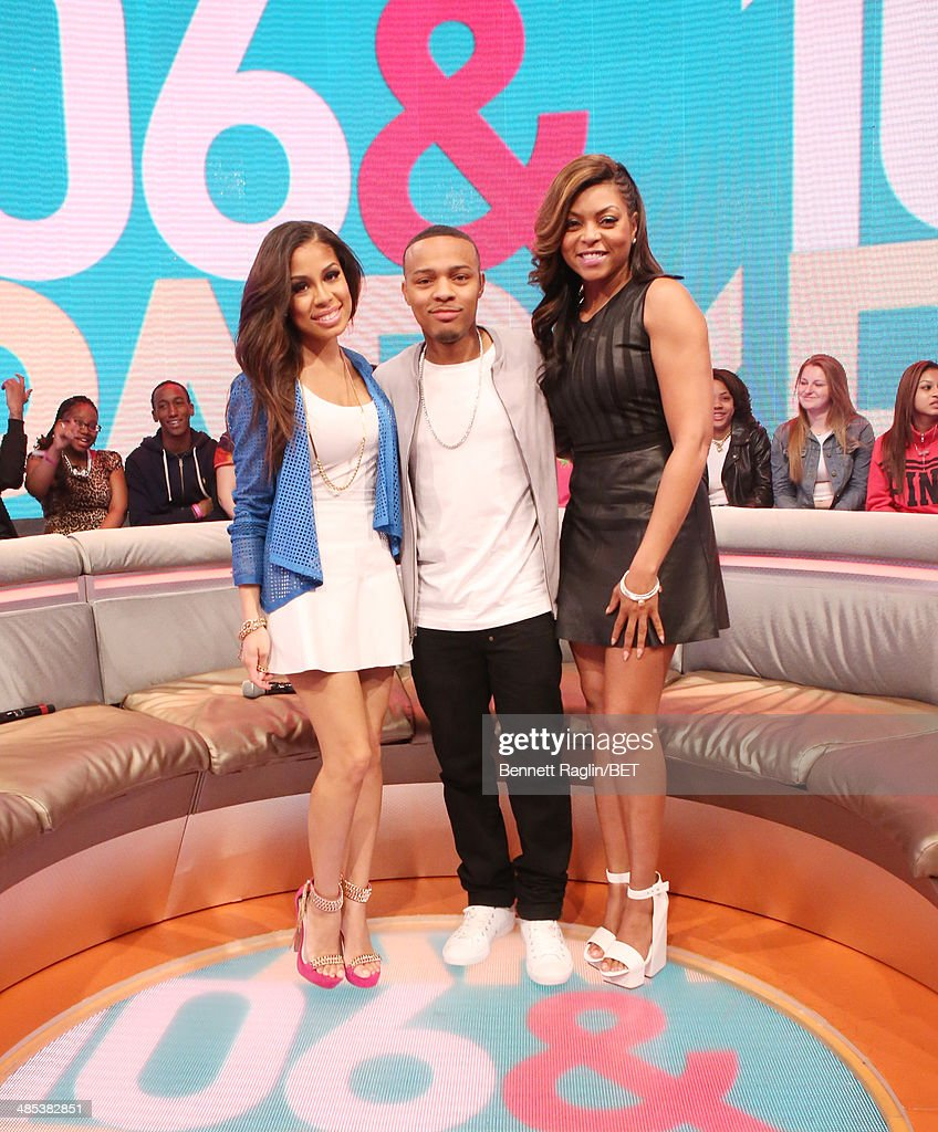 Keshia Chante, Bow Wow, and Taraji P. Henson attend 106 & Park at BET studio on April 16, 2014 in New York City.