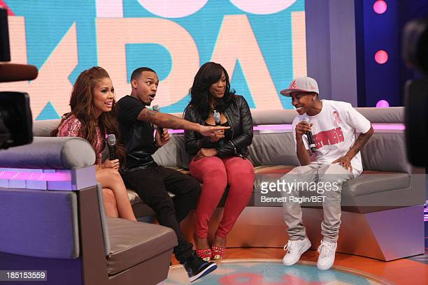 Keshia Chante Bow Wow Keyonnah Abrams and Mattie Dee Pimpin Brown attend 106 Park at 106 Park studio on October 17 2013 in New York City