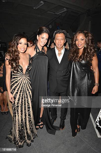 Keshia Chante Chantal Kreviazuk Phillip Ing and Divine Brown attend Fashion Cares A Night Of Glitter Light Featuring Elton John Show at Sony Centre...