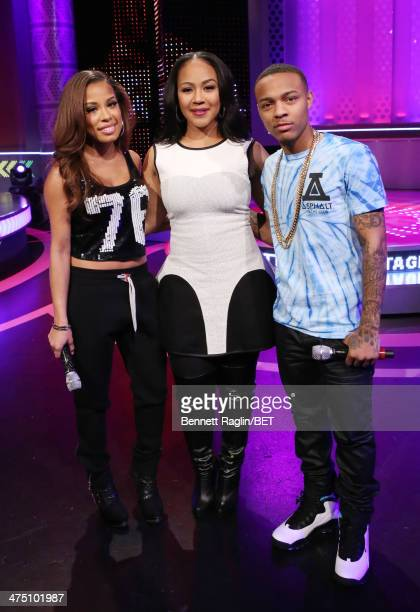 Keshia Chante Erica Campbell and Bow Wow attend 106 Park at BET studio on February 24 2014 in New York City