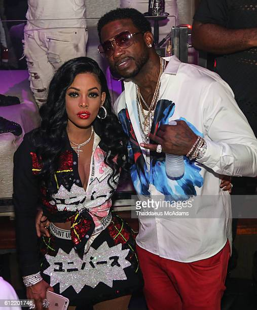 Keshia Ka'oir and Gucci Mane at Cafe Iguana Pines on October 3 2016 in Pembroke Pines Florida