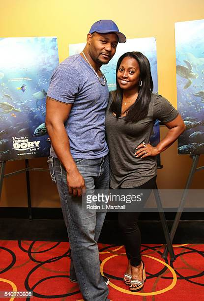 Keshia Knight Pulliam and Ed Hartwell attend 'Finding Dory' advance screening at AMC Phipps Plaza on June 15 2016 in Atlanta Georgia