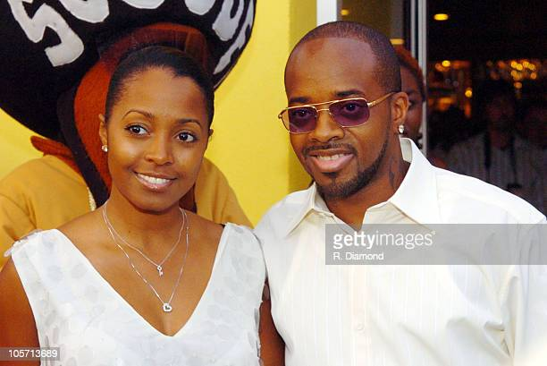 Keshia Knight Pulliam and Jermaine Dupri during Jermaine Dupri's Cafe Dupri Grand Opening in Atlanta at Cafe Dupri in Atlanta Georgia United States
