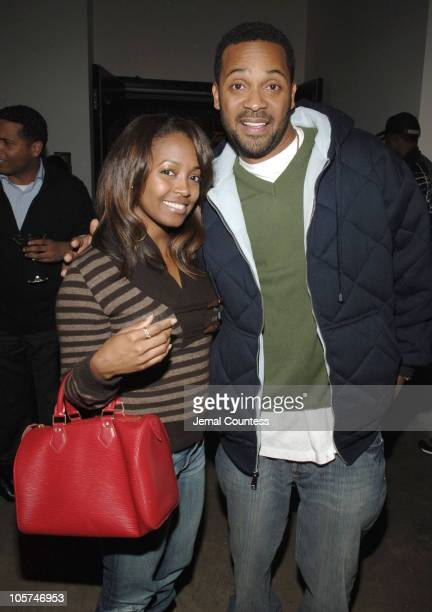 Keshia Knight Pulliam and Mike Epps during Tanqueray Presents Mike Epps On the Edge Comedy Tour KickOff Party at The Newspace in New York City New...