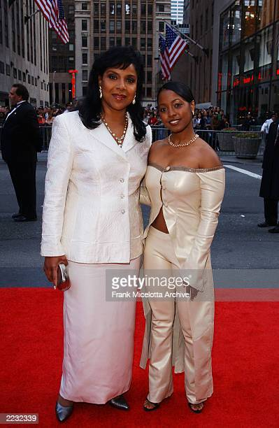 Keshia Knight Pulliam and Phylicia Rashad arrive for the NBC 75th Anniversary celebration taking place live in Studio 8H in Rockefeller Center in New...