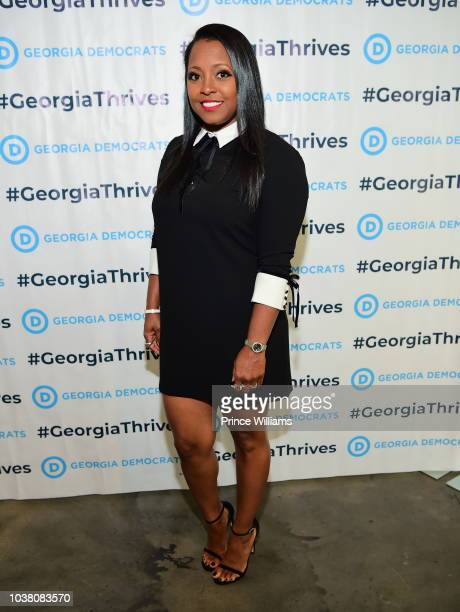 Keshia Knight Pulliam attends a celebration of Women for Abrams at The Gathering Spot on September 22 2018 in Atlanta Georgia