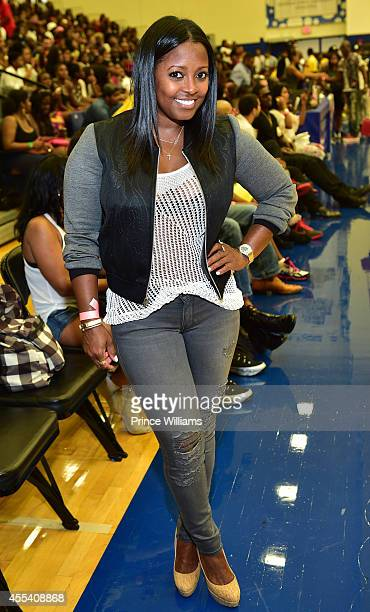 Keshia Knight Pulliam attends the LUDA vs YMCMB celebrity basketball game at Georgia State University Sports Arena on August 31 2014 in Atlanta City