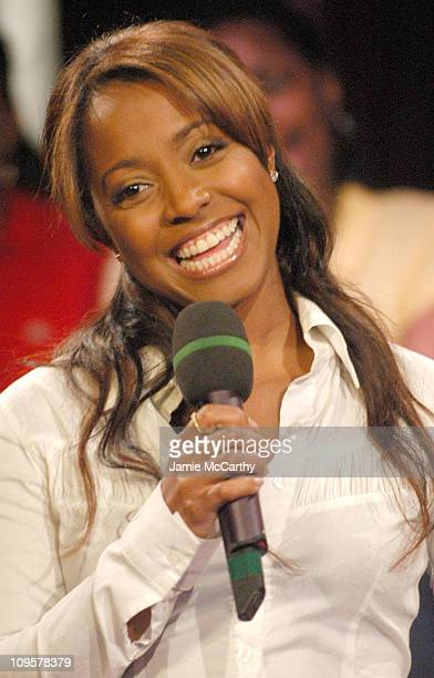 Keshia Knight Pulliam during Keshia Knight Pulliam Yvonne Jung and Gratitude Visit Fuse's Daily Download April 4 2005 at Fuse Studios in New York...