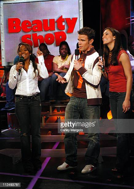 Keshia Knight Pulliam with Fuse VJs Dylan and Marianela