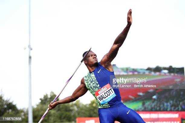 Keshorn Walcott of Trinidad and Tobago competes in the Mens Javelin during the Muller Birmingham Grand Prix & IAAF Diamond League event at Alexander...