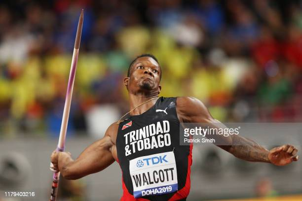 Keshorn Walcott of Trinidad and Tobago competes in the Men's Javelin final during day ten of 17th IAAF World Athletics Championships Doha 2019 at...