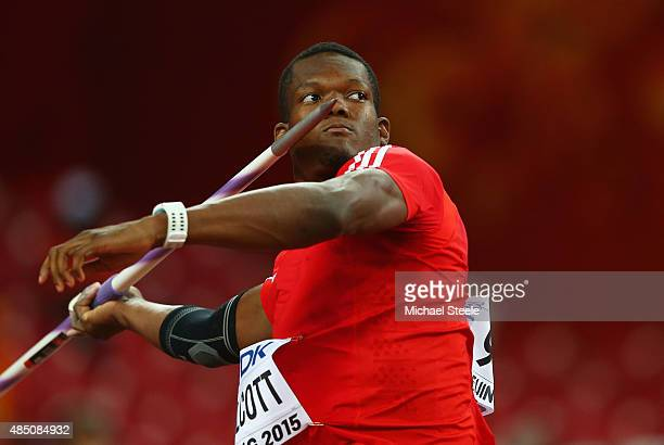 Keshorn Walcott of Trinidad and Tobago competes in the Men's Javelin qualification during day three of the 15th IAAF World Athletics Championships...