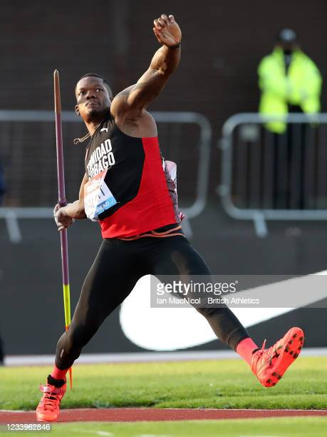 Keshorn Walcott of Trinidad and Tobago in action during the final of the men's javelin the Muller British Grand Prix, part of the Wanda Diamond...