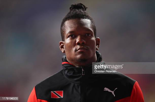 Keshorn Walcott of Trinidad and Tobago looks on as he competes in the Men's Javelin Throw qualification during day nine of 17th IAAF World Athletics...