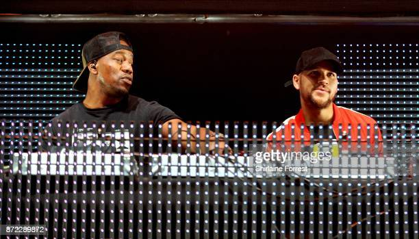 Kesi Dryden and Leon Rolle aka DJ Locksmith of Rudimental perform at Key 103 Live at Manchester Arena on November 9 2017 in Manchester England