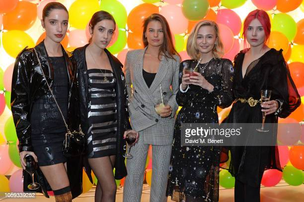 Kesia Magner Jemima Magner guest Sophie Simnett and Lottie Collins attend the Cath Kidston party celebrating the launch of their new collection in...