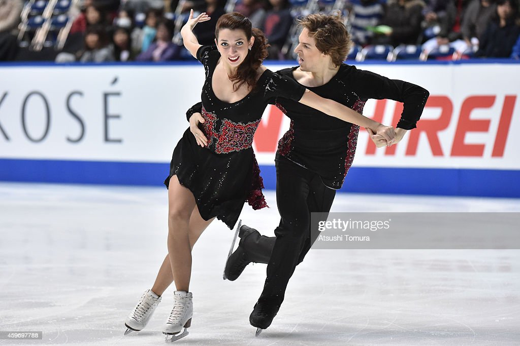 Kesnia Monko and Kirill Khaliavin of Russia compete in the Ice Dance Short Program during day two of ISU Grand Prix of Figure Skating 2014/2015 NHK Trophy at the Namihaya Dome on November 29, 2014 in Osaka, Japan.