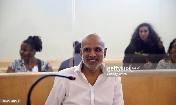 Kessie Nair during his appearance at the Verulam Magsitrates Court on seven counts of crimen injuria on September 26 2018 in Verulam South Africa...