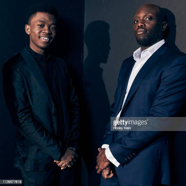 Keston John and Thamela Mpumlwana of The CW's 'In The Dark' pose for a portrait during the 2019 Winter TCA at The Langham Huntington Pasadena on...