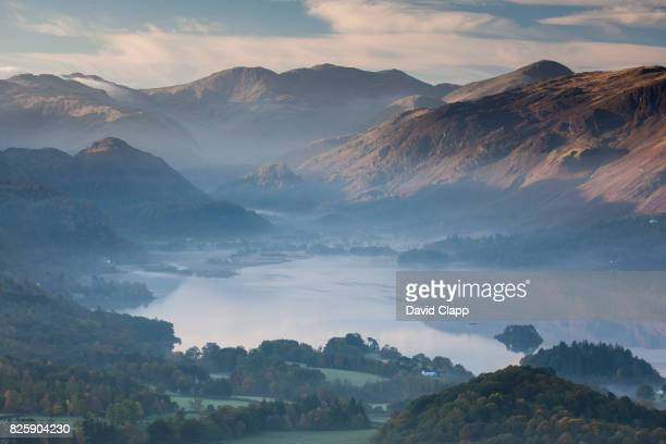 keswick and derwent water, lake district, england - keswick stock photos and pictures