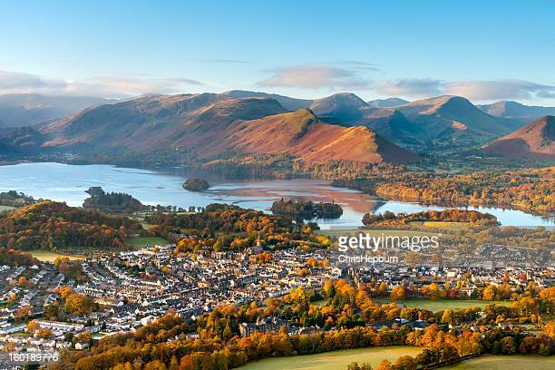 keswick and derwent water, lake district - cumbria stock pictures, royalty-free photos & images