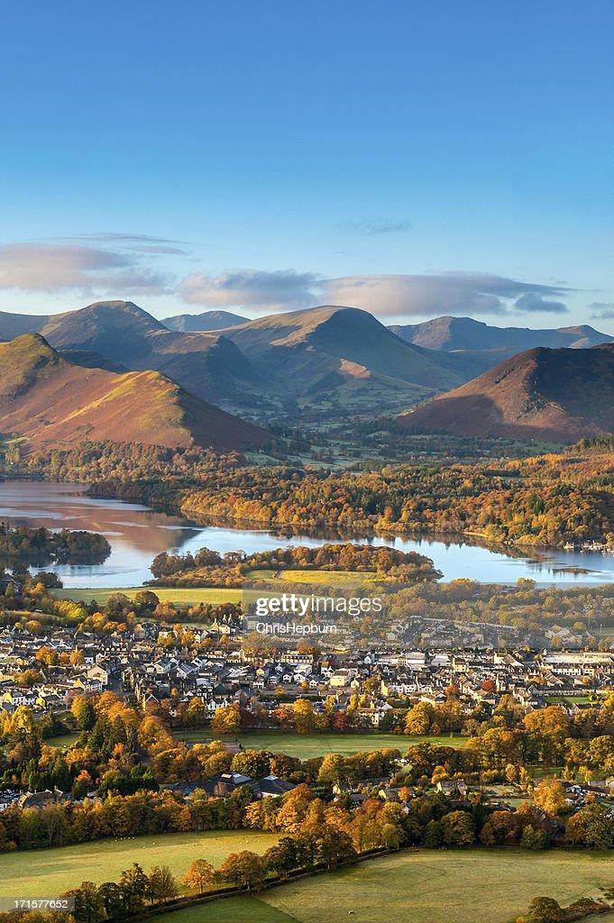 Keswick and Derwent Water, Lake District : Stock Photo