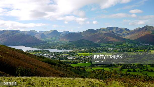 keswick and derwent water - keswick stock photos and pictures