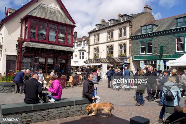 keswick market place. - keswick stock pictures, royalty-free photos & images