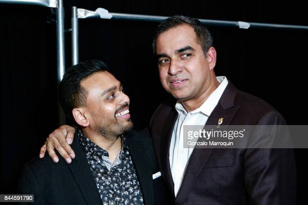 Ketan Chokshi and Bibhu Mohapatra after the Bibhu Mohapatra fashion show with Narayan Jewellers in association with ForeverMark Diamonds at Skylight...