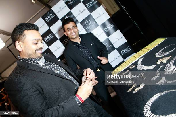 Ketan Chokshi and Jatin Chokshi during the Bibhu Mohapatra fashion show with Narayan Jewellers in association with ForeverMark Diamonds at Skylight...
