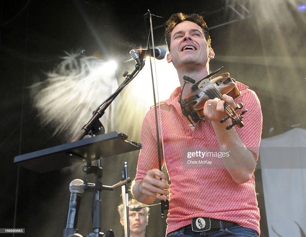 Ketch Secor of Old Crow Medicine Show performs at Verizon Wireless Amphitheater on May 17, 2013 in Alpharetta, Georgia.