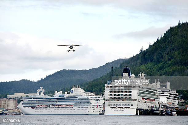 Ketchikan Cruise Ships and Plane