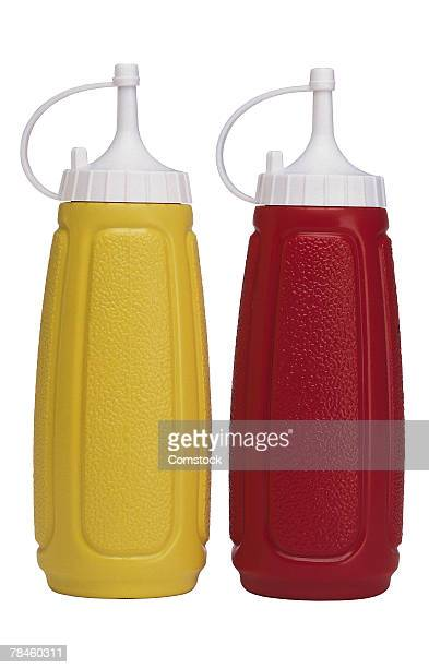 Ketchup and mustard containers