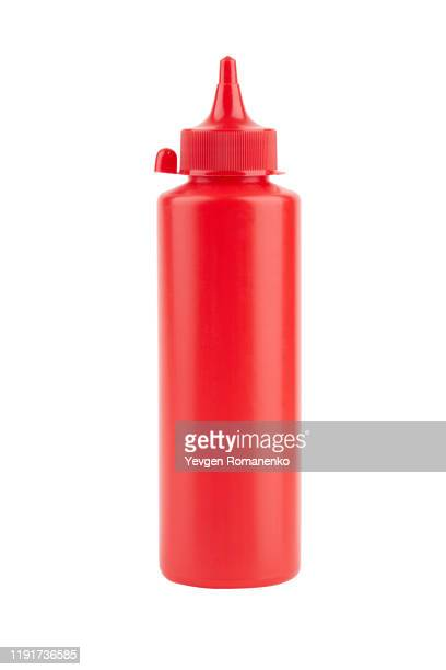 ketchup bottle isolated on a white background - sauce stock pictures, royalty-free photos & images