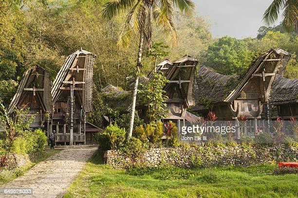 Ke'te Kesu village with Torajan houses (tongkonan